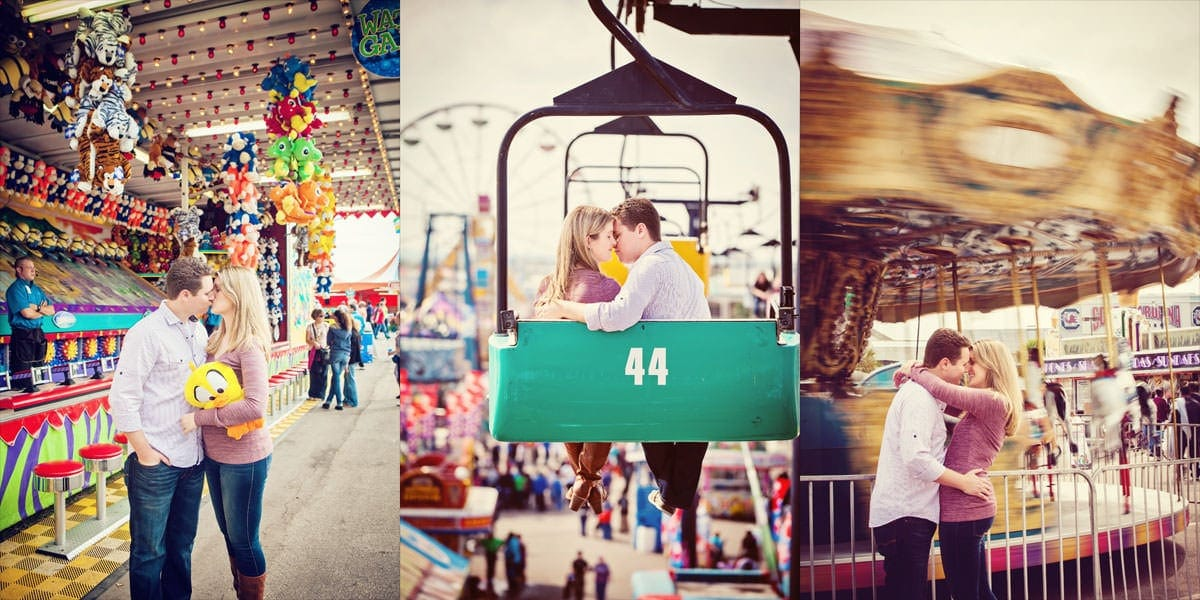 Engagement Session at South Carolina State fair