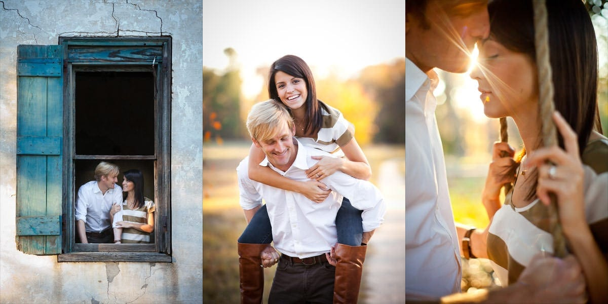 Engagement session at Wavering Place Plantation