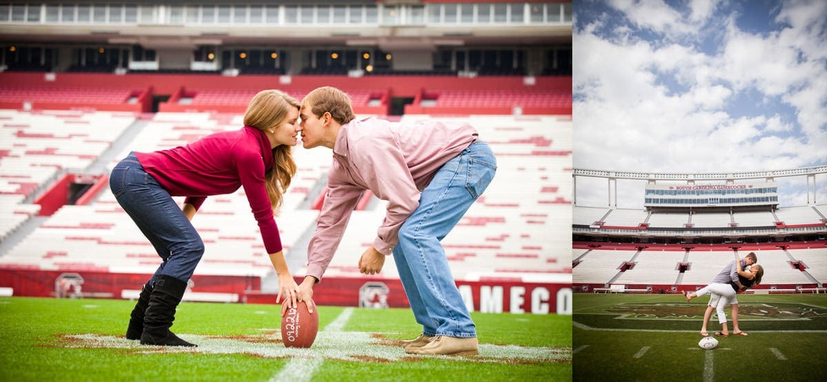 How to take engagement photos at Williams Brice Stadium